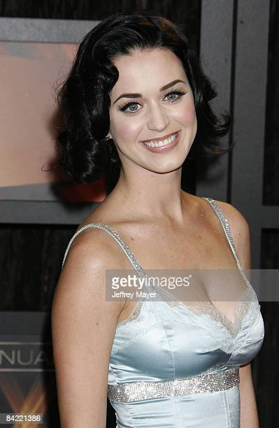 Katy Perry arrives at the 14th Annual Critics' Choice Awards at the Santa Monica Civic Center on January 8, 2009 in Santa Monica, California.