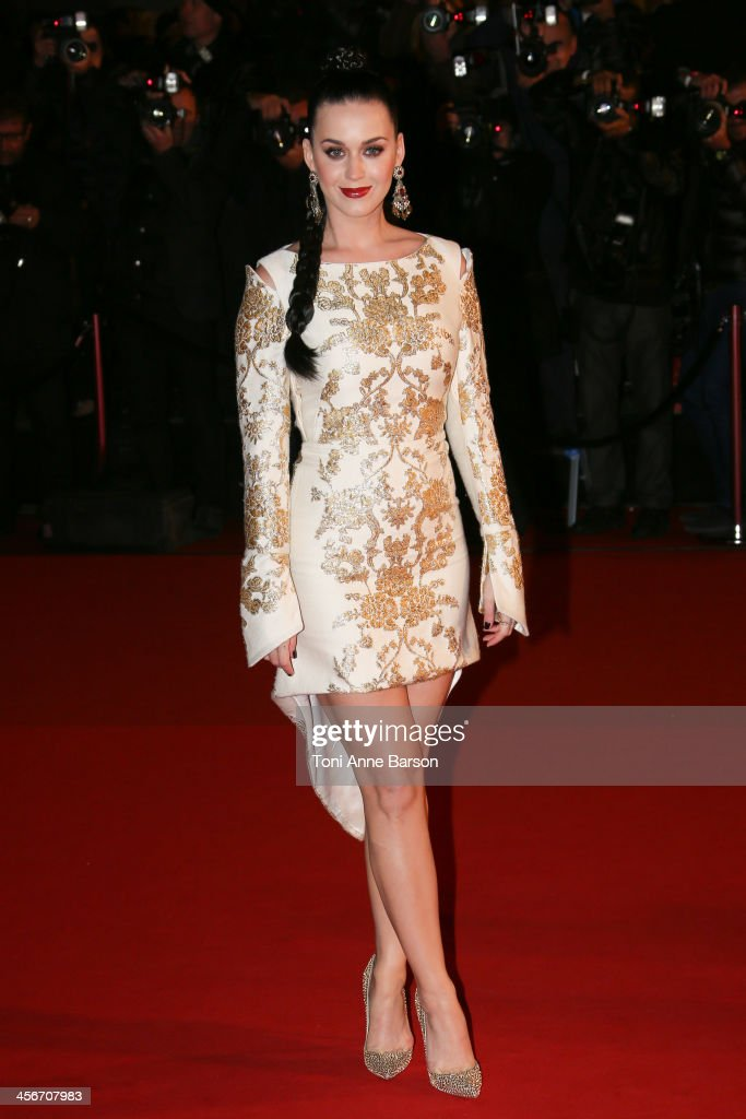 Katy Perry arrives at the 15th NRJ Music Awards at the Palais des Festivals on December 14, 2013 in Cannes, France.