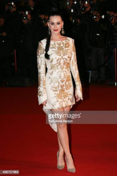 Katy Perry arrives at the 15th NRJ Music Awards at the Palais des Festivals on December 14 2013 in Cannes France