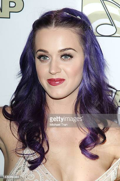 Katy Perry arrives at the 2012 ASCAP Pop Awards held at Hollywood Renaissance Hotel on April 18 2012 in Hollywood California