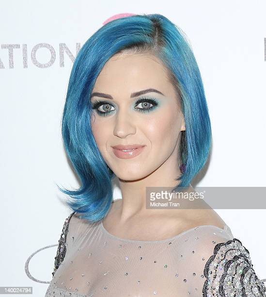 Katy Perry arrives at the 20th Annual Elton John AIDS Foundation Academy Awards viewing party held across the street from the Pacific Design Center...