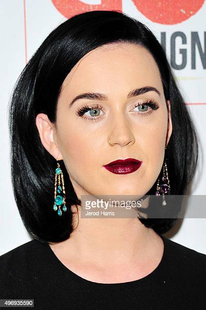Katy Perry arrives at the 8th Annual GO Campaign Gala at Montage Beverly Hills on November 12 2015 in Beverly Hills California