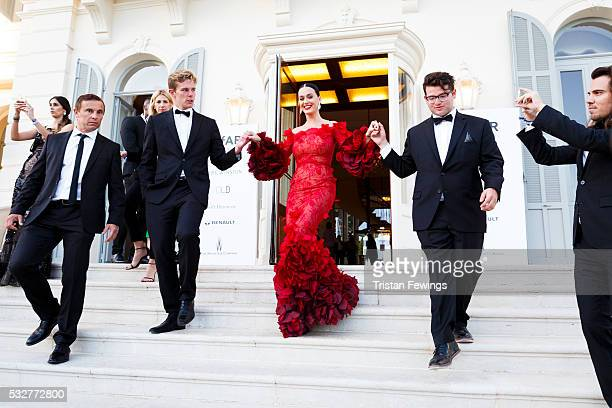 Katy Perry arrives at the amfAR's 23rd Cinema Against AIDS Gala at Hotel du Cap-Eden-Roc on May 19, 2016 in Cap d'Antibes, France.