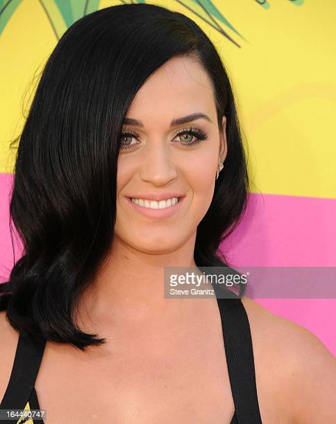 Katy Perry arrives at the Nickelodeon's 26th Annual Kids' Choice Awards at USC Galen Center on March 23 2013 in Los Angeles California