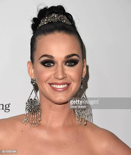 Katy Perry arrives at the Sean Parker And The Parker Foundation Launch The Parker Institute For Cancer Immunotherapy Gala on April 13 2016 in Los...