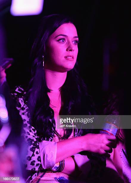 Katy Perry attends day 1 of the 2013 Coachella Valley Music Arts Festival at the Empire Polo Club on April 12 2013 in Indio California