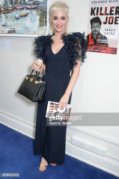 Katy Perry attends her third performance of 'Killer Joe' starring Orlando Bloom at the Trafalgar Studios on June 16 2018 in London England