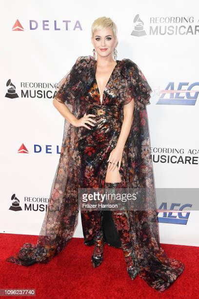 Katy Perry attends MusiCares Person of the Year honoring Dolly Parton at Los Angeles Convention Center on February 8 2019 in Los Angeles California