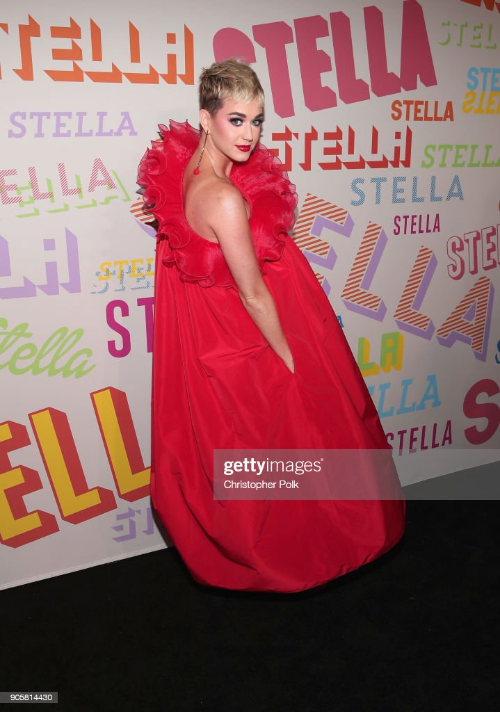 Katy Perry attends Stella McCartney's Autumn 2018 Collection Launch on January 16, 2018 in Los Angeles, California.