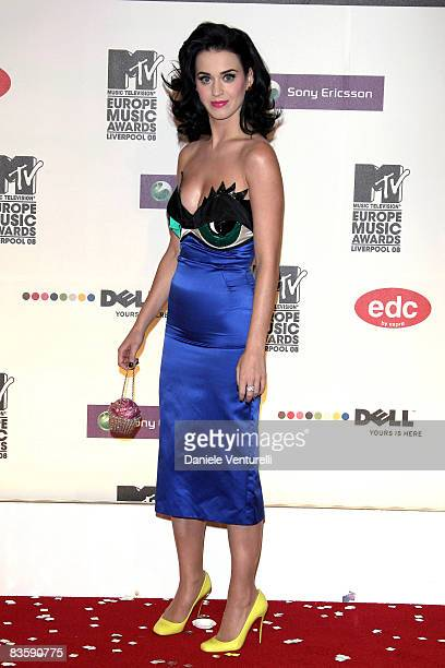 Katy Perry attends the 2008 MTV Europe Music Awards held at at the Echo Arena on November 6 2008 in Liverpool England