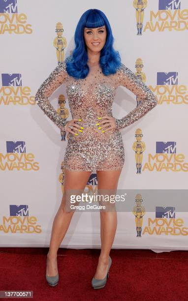 Katy Perry attends the 2010 MTV Movie Awards at the Gibson Amphitheatre on June 6, 2010 in Universal City, California.