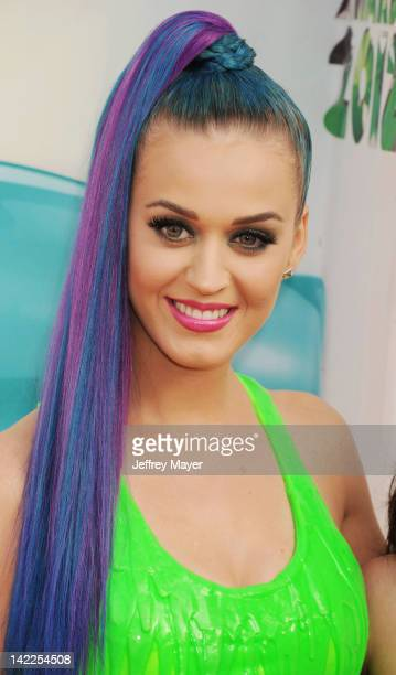 Katy Perry attends the 2012 Nickelodeon Kids' Choice Awards at Galen Center on March 31 2012 in Los Angeles California