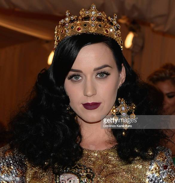 Katy Perry attends the 2013 Costume Institute Gala - PUNK: Chaos to Couture at Metropolitan Museum of Art on May 6, 2013 in New York City.