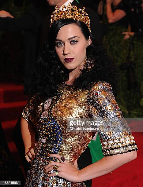 Katy Perry attends the 2013 Costume Institute Gala PUNK Chaos to Couture at Metropolitan Museum of Art on May 6 2013 in New York City