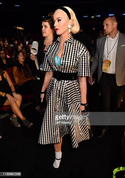 Katy Perry attends the 2019 iHeartRadio Music Awards which broadcasted live on FOX at the Microsoft Theater on March 14 2019 in Los Angeles California