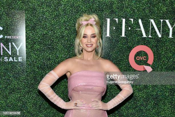 Katy Perry attends the 25th Annual QVC FFANY Shoes on Sale Gala at The Ziegfeld Ballroom on October 11 2018 in New York City