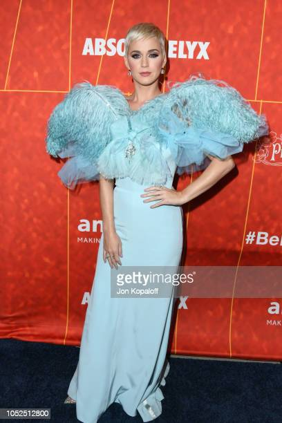 Katy Perry attends the amfAR Gala Los Angeles 2018 at Wallis Annenberg Center for the Performing Arts on October 18 2018 in Beverly Hills California