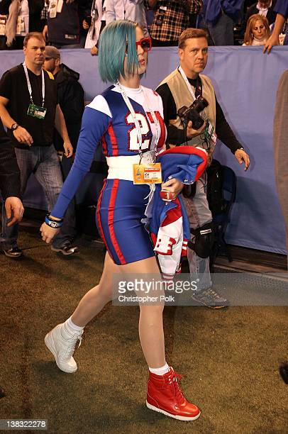 Katy Perry attends the Bridgestone Super Bowl XLVI Pregame Show at Lucas Oil Stadium on February 5 2012 in Indianapolis Indiana