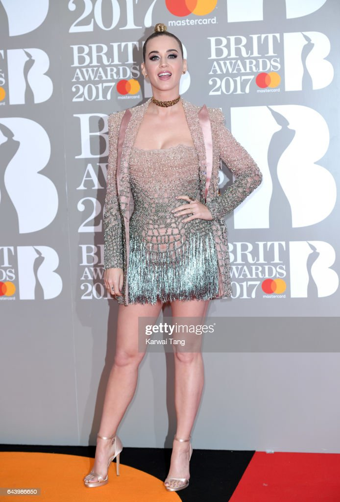 ONLY. Katy Perry attends The BRIT Awards 2017 at The O2 Arena on February 22, 2017 in London, England.