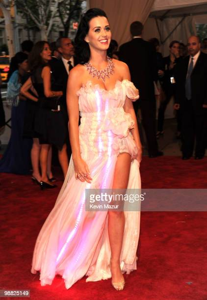Katy Perry attends the Costume Institute Gala Benefit to celebrate the opening of the 'American Woman Fashioning a National Identity' exhibition at...