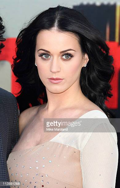 Katy Perry attends the European premiere of 'Arthur' at Cineworld 02 on April 19 2011 in London England