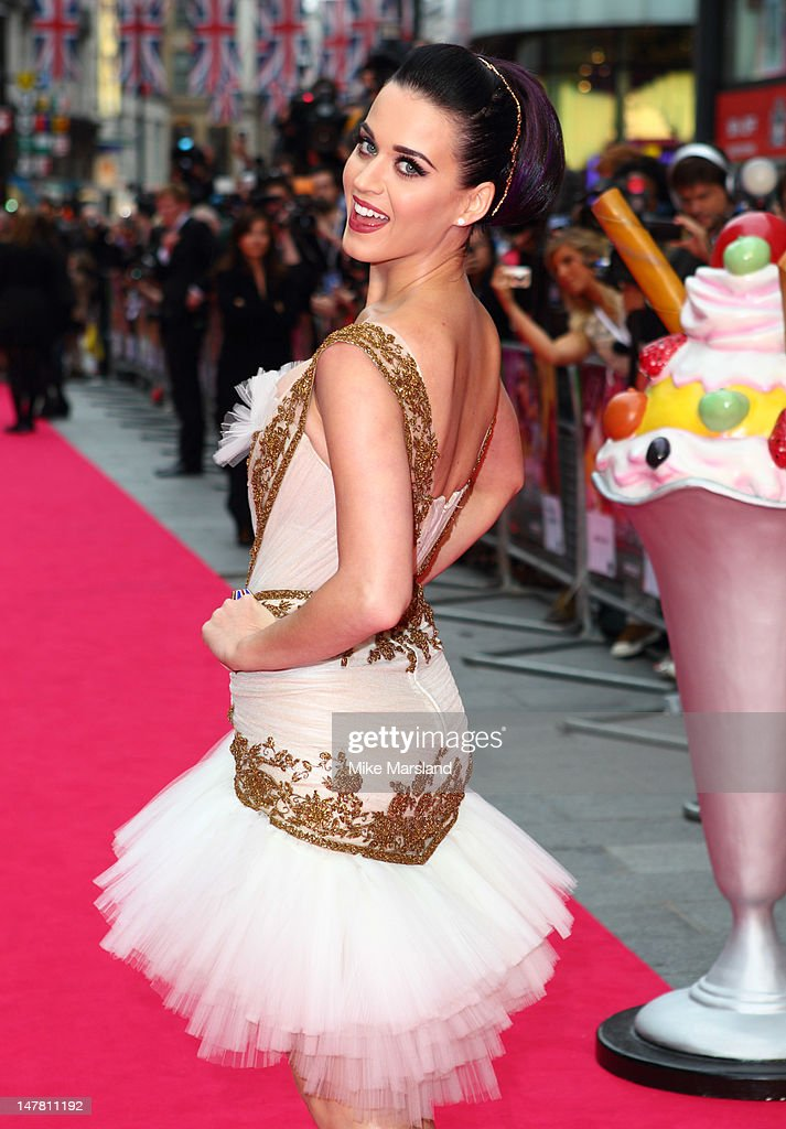 Katy Perry attends the European premiere of Katy Perry: Part Of Me 3D at Empire Leicester Square on July 3, 2012 in London, England.