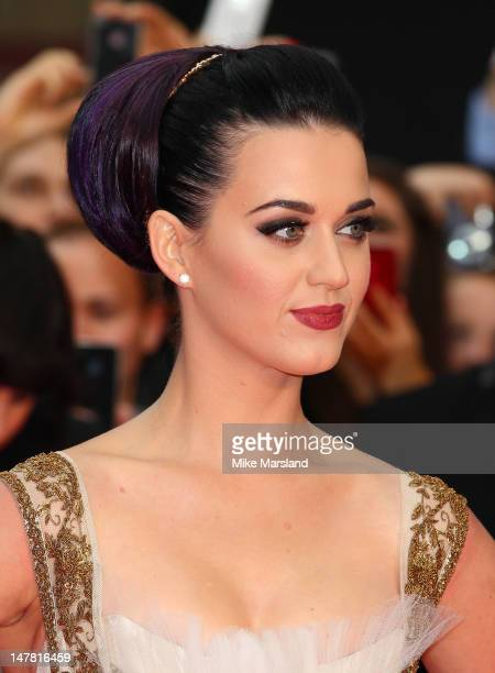 Katy Perry attends the European premiere of Katy Perry Part Of Me 3D at Empire Leicester Square on July 3 2012 in London England