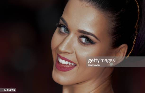 Katy Perry attends the European Premiere of 'Katy Perry Part Of Me' at Empire Leicester Square on July 3 2012 in London England