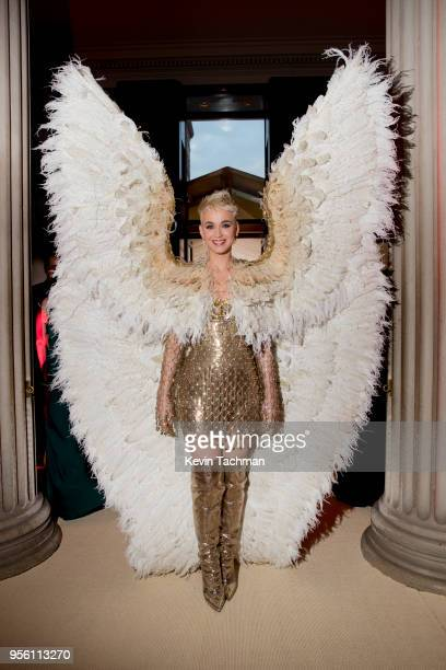 Katy Perry attends the Heavenly Bodies: Fashion & The Catholic Imagination Costume Institute Gala at The Metropolitan Museum of Art on May 7, 2018 in...