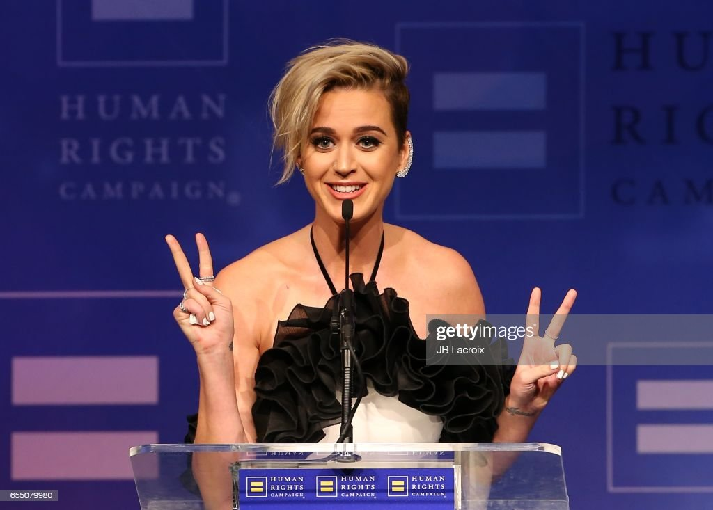 Katy Perry attends the Human Rights Campaign's 2017 on March 18, 2017 in Los Angeles, California.