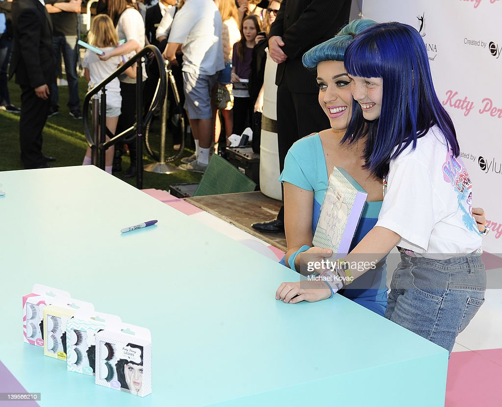 Katy Perry attends the Katy Perry Lashes created by Eylure Launch Event at The Americana at Brand on February 22, 2012 in Glendale, California.