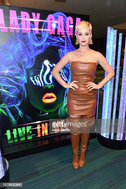 Katy Perry attends the Lady Gaga 'ENIGMA' residency at Park Theater at Park MGM on December 28 2018 in Las Vegas Nevada
