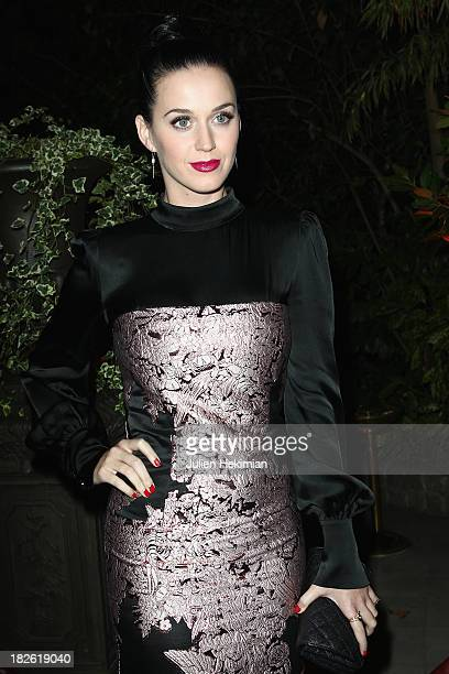 Katy Perry attends the 'Mademoiselle C' cocktail party at Pavillon Ledoyen on October 1 2013 in Paris France