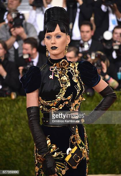 Katy Perry attends the 'Manus x Machina Fashion In An Age Of Technology' Costume Institute Gala at Metropolitan Museum of Art on May 2 2016 in New...
