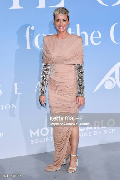 Katy Perry attends the MonteCarlo Gala for the Global Ocean 2018 on September 26 2018 in MonteCarlo Monaco