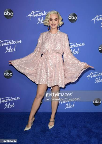 """Katy Perry attends the premiere event for """"American Idol"""" hosted by ABC at Hollywood Roosevelt Hotel on February 12, 2020 in Hollywood, California."""
