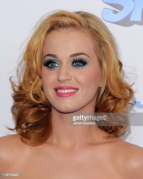 Katy Perry attends the premiere of The Smurfs at the Ziegfeld Theater on July 24 2011 in New York City