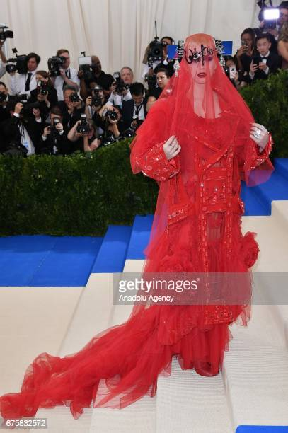Katy Perry attends the 'Rei Kawakubo / Comme des Garcons: Art Of The In-Between' Costume Institute Gala 2017 at Metropolitan Museum of Art in New...
