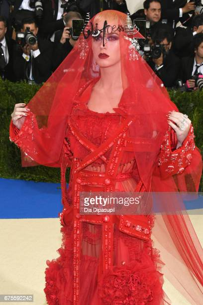 Katy Perry attends the 'Rei Kawakubo/Comme des Garcons Art Of The InBetween' Costume Institute Gala at Metropolitan Museum of Art on May 1 2017 in...