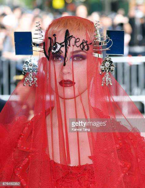 Katy Perry attends the Rei Kawakubo/Comme des Garcons Art Of The InBetween Costume Institute Gala at the Metropolitan Museum of Art on May 1 2017 in...