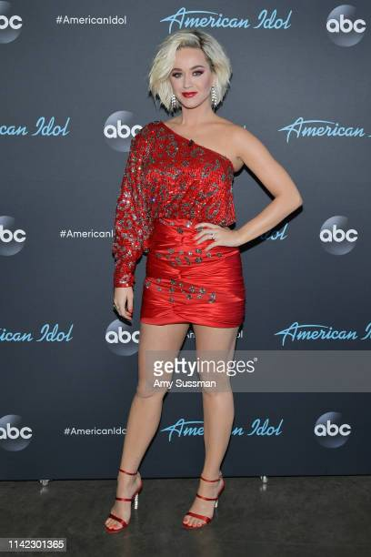 Katy Perry attends the taping of ABC's American Idol on April 12 2019 in Los Angeles California