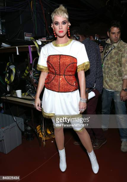 Katy Perry backstage at the 2017 MTV Video Music Awards at The Forum on August 27 2017 in Inglewood California