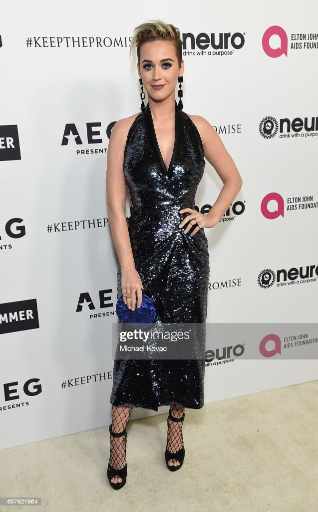 Katy Perry celebrates Elton John's 70th Birthday and 50-Year Songwriting Partnership with Bernie Taupin benefiting the Elton John AIDS Foundation and the UCLA Hammer Museum at RED Studios Hollywood on March 25, 2017 in Los Angeles, California.
