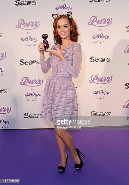 "Katy Perry celebrates the launch of her debut fragrance ""Purr"" at Sears, Toronto Eaton Centre on June 30, 2011 in Toronto, Canada"
