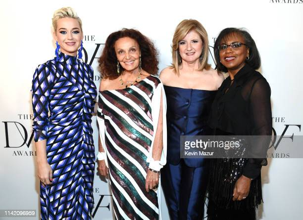 Katy Perry Diane von Furstenberg Arianna Huffington and Anita Hill attend 10th Annual DVF Awards at Brooklyn Museum on April 11 2019 in New York City