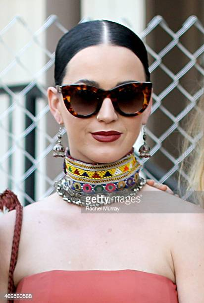 Katy Perry during the 2015 Coachella Valley Music and Arts Festival Weekend 1 at The Empire Polo Club on April 12 2015 in Indio California