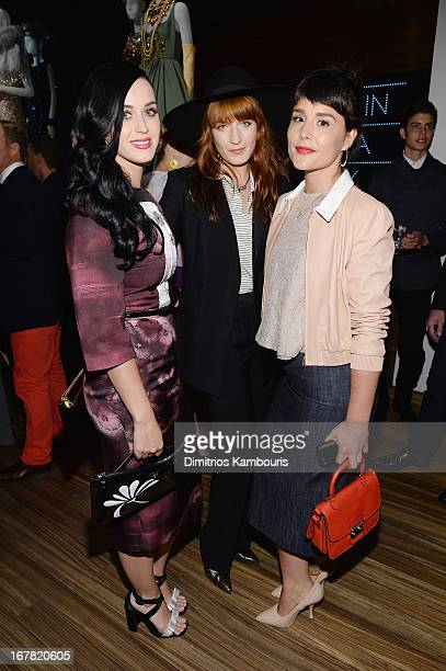 Katy Perry , Florence Welch and Jessie Ware attend Catherine Martin And Miuccia Prada Dress Gatsby Opening Cocktail on April 30, 2013 in New York...
