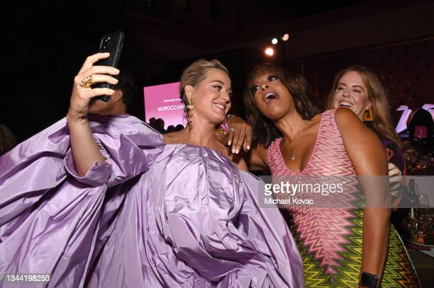 Katy Perry, Gayle King, and Angela Hudson attend Variety's Power of Women on September 30, 2021 in Los Angeles, California.