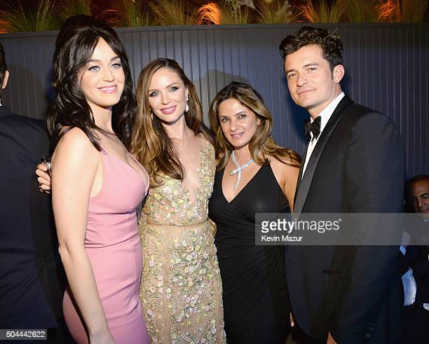 Katy Perry Georgina Chapman and Orlando Bloom attend The Weinstein Company and Netflix Golden Globe Party presented with DeLeon Tequila Laura Mercier...