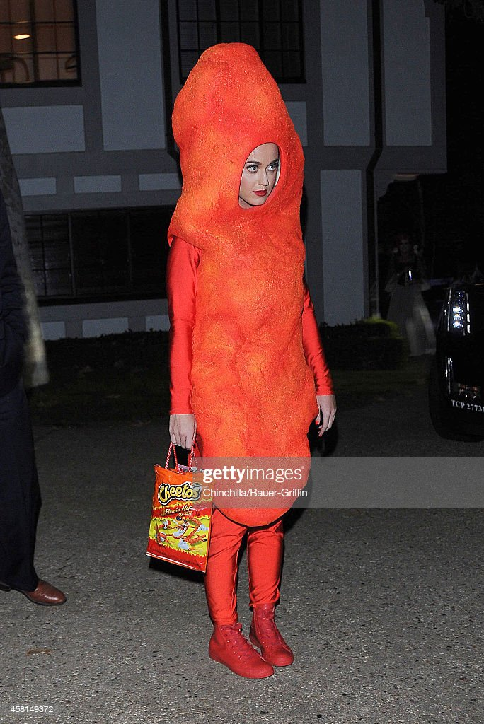Katy Perry is seen at Kate Hudson's annual Halloween party on October 30, 2014 in Los Angeles, California.